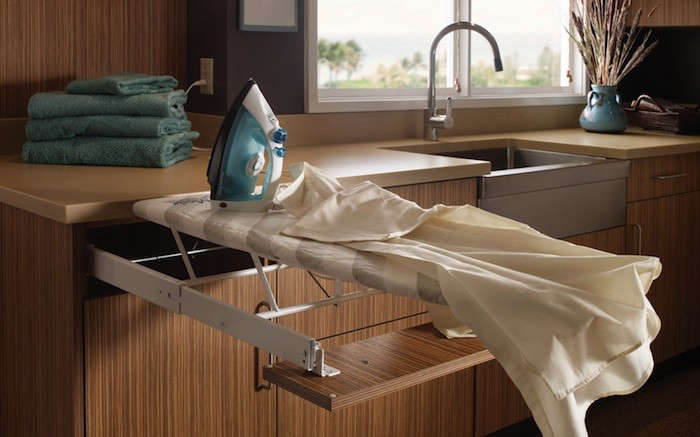 Above: A Pullout Ironing Board From Wood Mode Cabinetry; Contact Wood Mode  For Pricing. (See Steal This Look: The Ultimate Chefu0027s Kitchen In Brooklyn  For ...