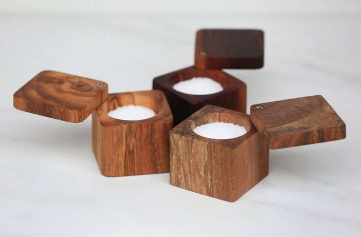Above Silverman and Ou0027Dea use salt-air-cured wood salvaged from the Atlantic City boardwalk for their Salt Cellar with Lid; $55. & A Cut Above: Serving Pieces with a Star Following - Remodelista