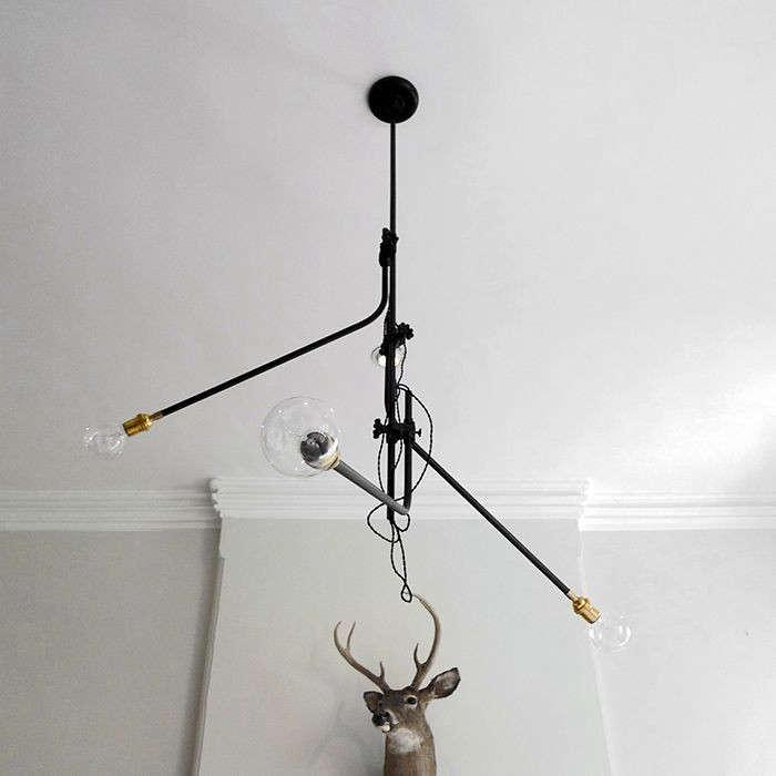 Workstead 3 arm bent chandelier aloadofball Gallery