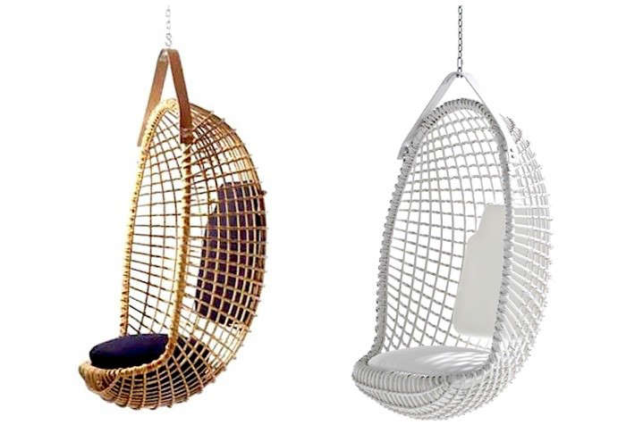 Above: Another Midcentury Design, The Eureka Hanging Chair By Giovanni  Travasa Is Still Being Handmade In Italy, And Finished With A Leather  Hanging Strap.