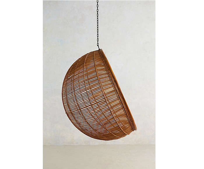 Wonderful Available In Natural Or White, Itu0027s $450, And A Double Hanging Rattan Chair  Is $695.