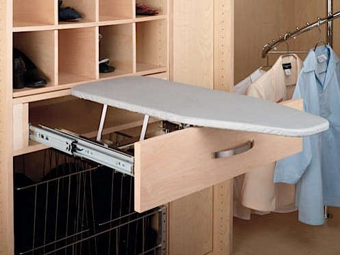 Above: The Rev A Shelf CiB 16CR Chrome VIB Series Pullout Closet Depth  Ironing Board Is $126.70 From Build.com.