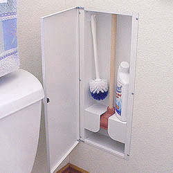 Hy-dit Toilet Plunger Storage Cabinet