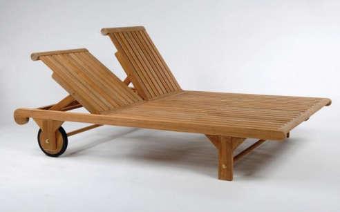 Atlantic Teak Double Patio Chaise Lounge : double patio chaise lounge - Sectionals, Sofas & Couches