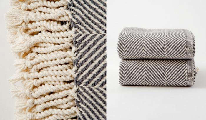 . Natural Herringbone Blanket