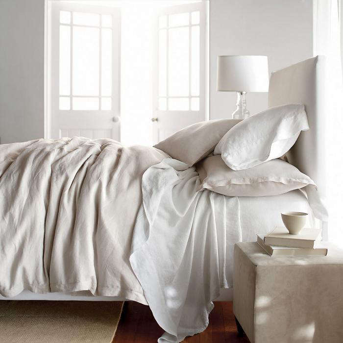 Elegant  fort linen sheets wash large