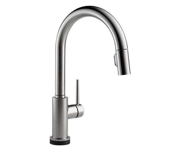 delta faucet 9159t-dst single handle pull-down kitchen faucet