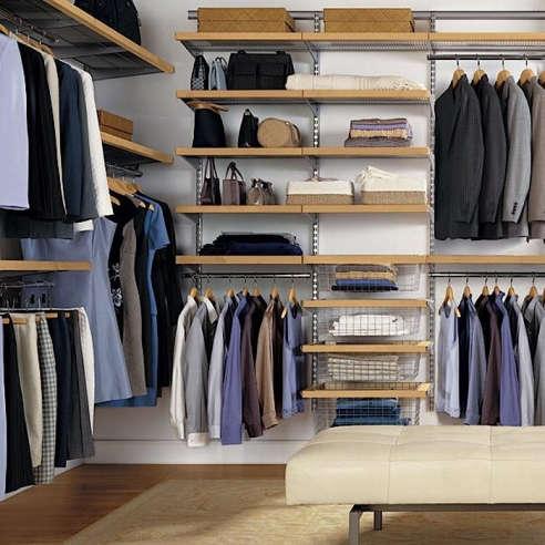 Birch And Platinum Elfa Decor Master Walk In Closet