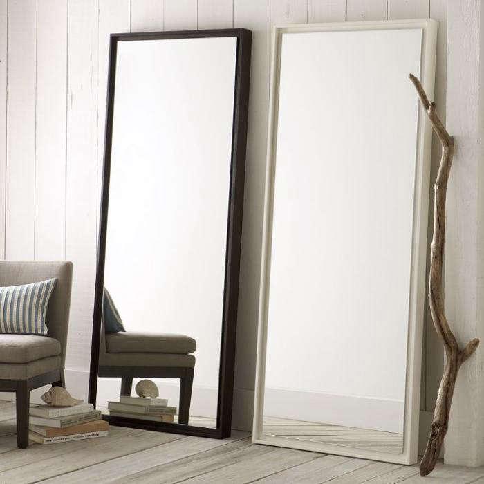 Fresh  floating wood floor mirror