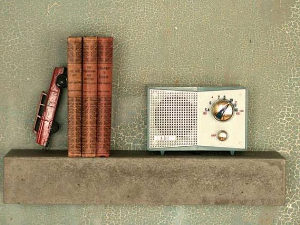 Concrete Floating Shelf Large Industrial
