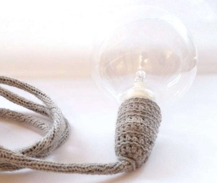 Hand Knitted 240V Lamp Cord