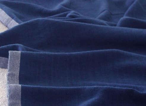 Solid Indigo Blanket