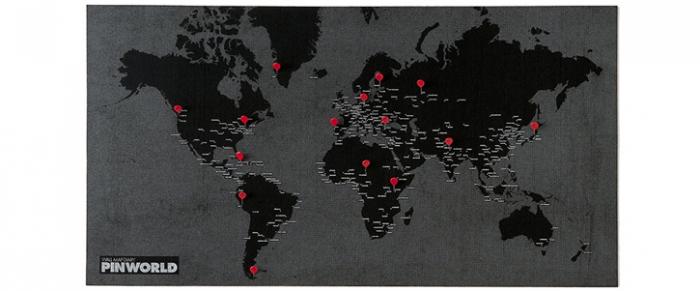 Pin CityPin World Wall Maps