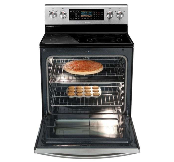 Electric Oven Open ~ Samsung flex duo electric range fe