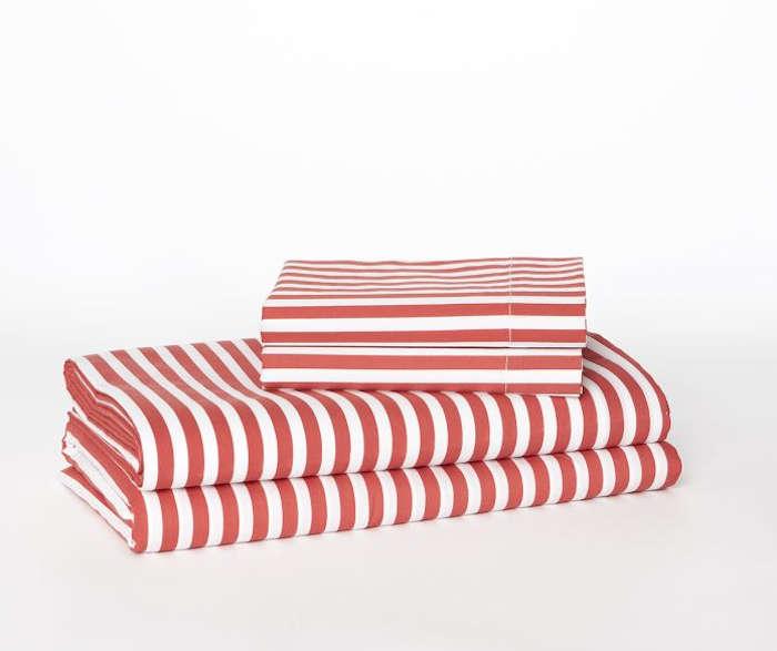 Vintage Stripe Sheet Set u Lotus Pink