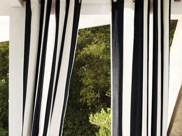 Patio Umbrella Grommet Sunbrella Awning Stripe Outdoor Grommet Drape