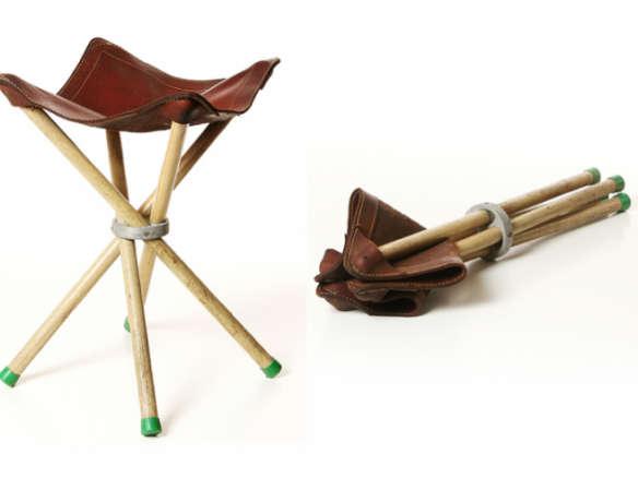 Sensational Vintage Camp Stool Bralicious Painted Fabric Chair Ideas Braliciousco