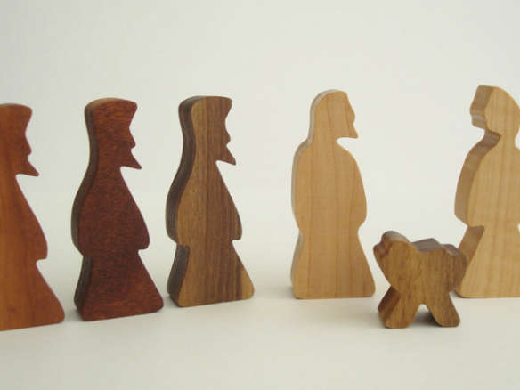 Simple Wooden Nativity Childrens Wood Toy