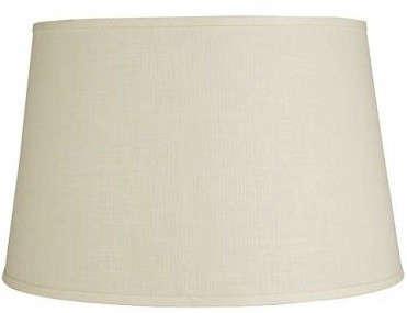 White Linen Tapered Drum Shade
