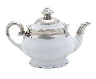 Silver Shiny Baroque Teapot