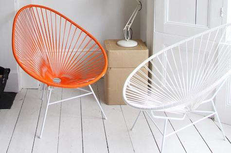 Furniture: Acapulco Chair in Indoor Settings