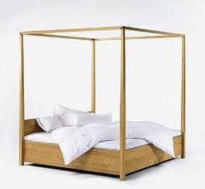 Modern Four Poster Beds furniture: modern four-poster bed frames - remodelista