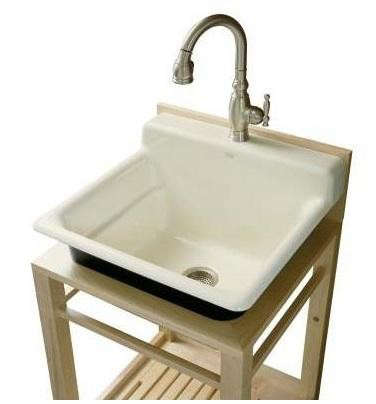 bayview wood stand utility sink