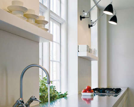 Above: A Kitchen In Scandinavia Featuring A Pair Of Black Bl6 Bestlite Wall  Lights; $599 At Unica Home.