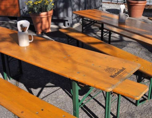 beer garden table and benches - Garden Furniture Stain