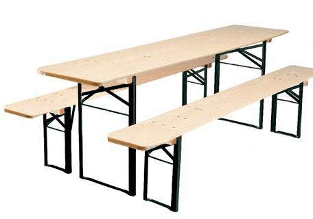 Biergarten Folding Wood Table and Bench Set  sc 1 st  Remodelista & Folding Wood Table and Bench Set