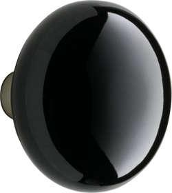 black porcelain door knob