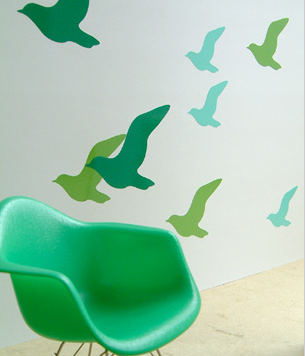 kids rooms: stick on wall graphics remodelista