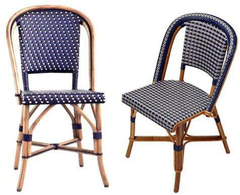 Authentic Bistro Chair Rh Remodelista Com Navy Blue Chairs French