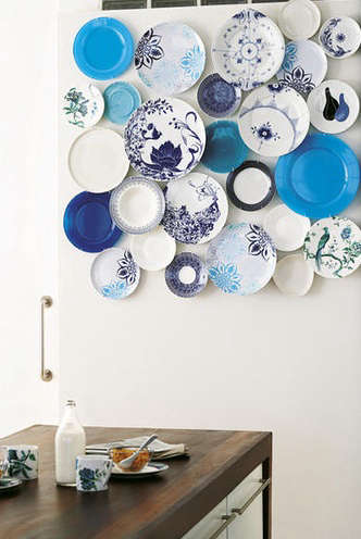 Above A Collection Of Blue And White Plates From Living Etc