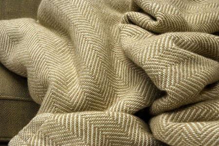 . Cotton Herringbone Throw