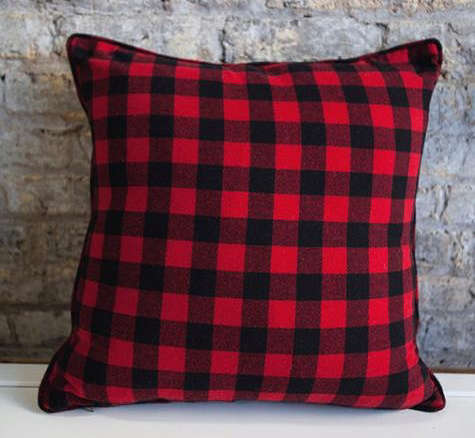 Red Amp Black Buffalo Check Pillow
