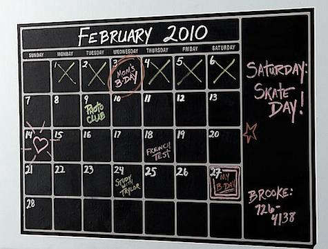 sc 1 st  Remodelista & Vertical Dry-Erase Calendar Decal