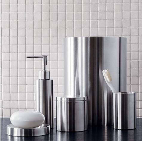 Stainless steel bath accessories for Bathroom accessories location