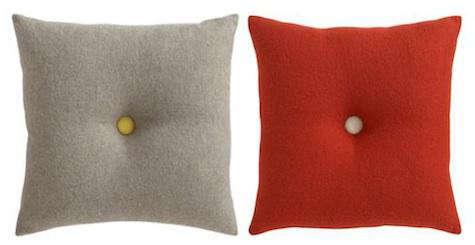 Throw Pillows With Big Buttons : Button-up Grey Pillow