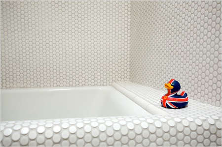 penny round tile bathroom bath dal tile remodelista 19943