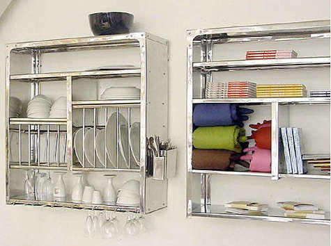 & Wall-Mounted Steel Plate Rack