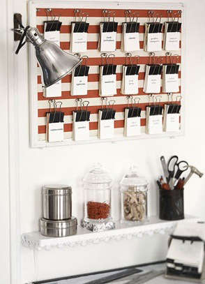 Storage Wall Mounted Clip Boards Remodelista