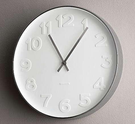Embossed Numbers Wall Clock