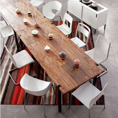 raw wood dining table modern darjeeling dining table