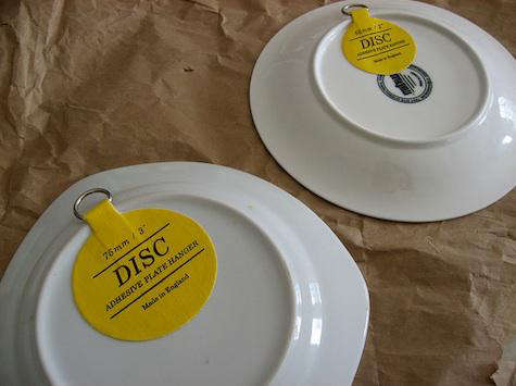 Invisible English Plate Hanger Disc & English Plate Hanger Disc