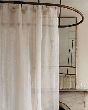 Eileen Fisher Sheer Linen Shower Curtain