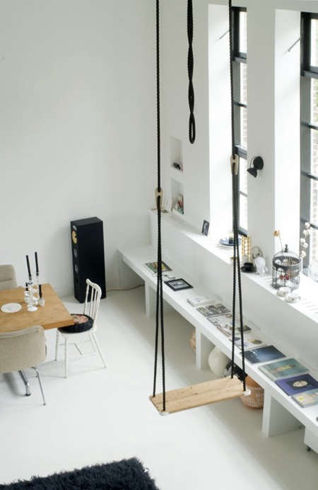 These Photos Remind Me That For Those Lucky Enough To Live In Large Spaces  With High Ceilings, An Indoor Swing Is A Welcome Diversion.