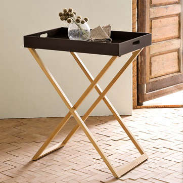 Captivating Butler Tray And Teak Stand