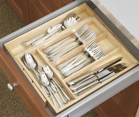 Kitchen Storage: Expandable Utensil Trays