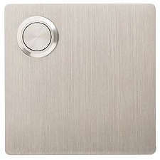 Ordinaire Below: Paragon Doorbell Button In Lacquered Brushed Stainless; $33 At Atlas  Homewares.